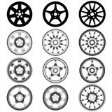 Automotive wheel with alloy wheels. The automotive wheel with alloy wheels Stock Image