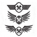 Automotive Wing  Logo set. Royalty Free Stock Photography