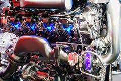 Automotor auf Anzeige, Autoausstellung Geneve 2015 Lizenzfreie Stockfotografie