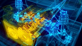 Automotorgetriebe stock abbildung