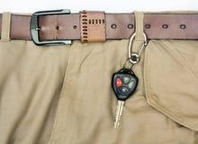 Automotorstarter-Schlüsselhängen mit der Gürtelschlaufe Stockbilder