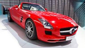 Automóvil descubierto de Mercedes-Benz SLS AMG Fotos de archivo libres de regalías