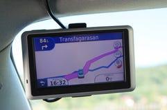 Autonavigation in den Fagaras-Bergen, Rumänien Lizenzfreies Stockfoto
