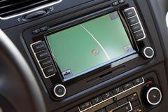 Autonavigations-Multimediasystem. stockfoto