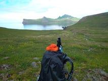 Autonom aktion Island för arktiskt hav arkivbilder