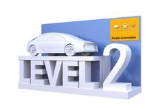 Autonom bilklassifikation av nivå 2 royaltyfri illustrationer