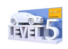 Autonom bilklassifikation av nivå 5 vektor illustrationer