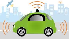 Autonom driverless bil vektor illustrationer