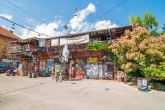 Autonom kulturell mitt Metelkova, Ljubljana, Slovenien Fotografering för Bildbyråer
