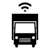 Autonom lastbilsymbol Royaltyfri Bild