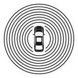 Autonome auto hoogste mening Zelf drijfvoertuig vector illustratie