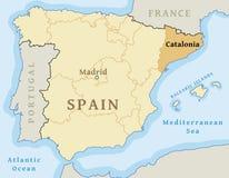 Autonome Gemeinschaft Kataloniens stockfotografie