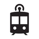 Autonome U-Bahn - Glyph-Ikone - Schwarzes Stockbild