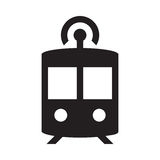 Autonome U-Bahn - Glyph-Ikone - Schwarzes Vektor Abbildung