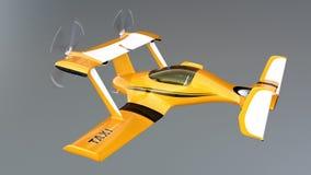 Autonomes Fliegenbrummen-Taxikonzept lizenzfreie abbildung