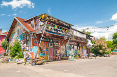 Autonomiczny kulturalny centrum Metelkova, Ljubljana, Slovenia zdjęcie royalty free