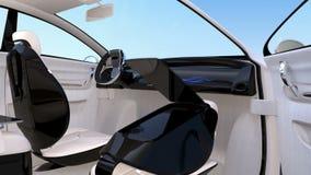 Autonomiczny samochodowy wewnętrzny projekt ilustracji