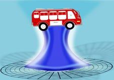 Autonomous bus vector illustration