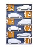 Autonomous car classification concept. 3D rendering image vector illustration
