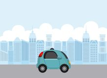 Autonomous car design stock illustration