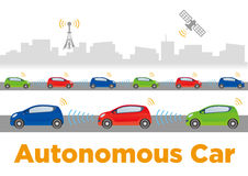 Autonomous Car Image Illustration Royalty Free Stock Image