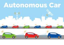 Autonomous Car Image Illustration Royalty Free Stock Photo