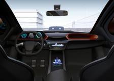Autonomous car interior Stock Images