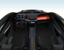 Autonomous car interior Royalty Free Stock Images