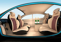 Autonomous car interior concept stock illustration
