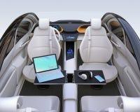 Autonomous car interior Royalty Free Stock Image