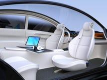 Autonomous car interior Royalty Free Stock Photo
