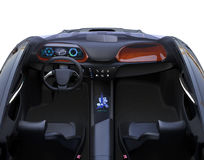 Autonomous car interior royalty free illustration