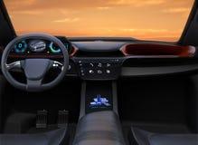 Autonomous car interior Stock Image