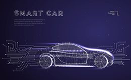 Autonomous car vehicle royalty free illustration