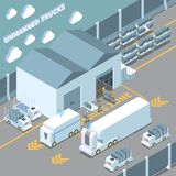 Autonomous Cars Isometric Composition royalty free illustration