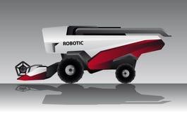 Autonomous combine harvester. Agrobot. Vector illustration EPS 10 Royalty Free Stock Images