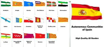Autonomous Communities of Spain Royalty Free Stock Photography