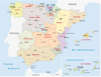 Autonomous communities of spain Stock Photo