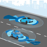 Autonomous Driverless Car Stock Images