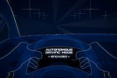 Autonomous driving illustration Royalty Free Stock Photo