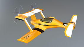 Autonomous flying drone taxi concept royalty free illustration
