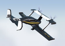 Autonomous flying drone taxi concept Royalty Free Stock Images