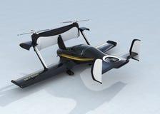 Autonomous flying drone taxi concept Stock Image