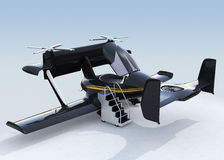 Autonomous flying drone taxi concept Stock Images