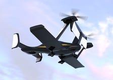 Autonomous flying drone taxi take off. 3D rendering image. Original design Stock Image