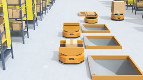 Autonomous Mobile Robots in logistics center