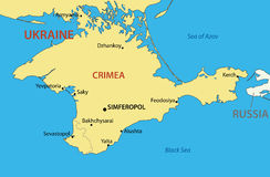 Autonomous Republic of Crimea - vector map Royalty Free Stock Photo
