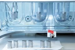 Autonomous solubility tester. Imitation dissolution of the table Stock Image