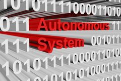 Autonomous System illustration stock