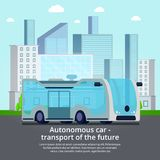 Autonomous Unmanned Vehicle Composition stock illustration